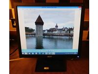 """ACER V173A LCD 17"""" MONITOR SCREEN WITH CABLES"""