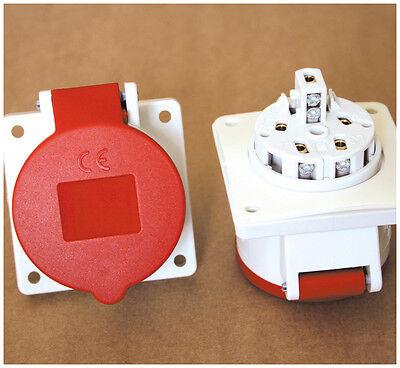 MENNEKES CEE-Anbausteckdose 16A 400V 5-polig rot Einbaudose Anbaudose Typ 1385