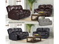 3+2 Valencia Recliner sofa, fantastic sofas, many more on offer as well, different prices, call now
