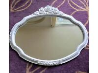 White Rose Wooden Mirror