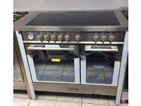 Baumatic BCE1025SS Electric Double Oven Range Cooker with Warranty