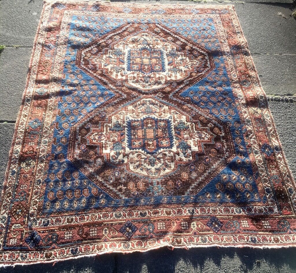 Persian Rug Edinburgh: Vintage Persian Rug With Tiny Scottish Flags! ( Reduced