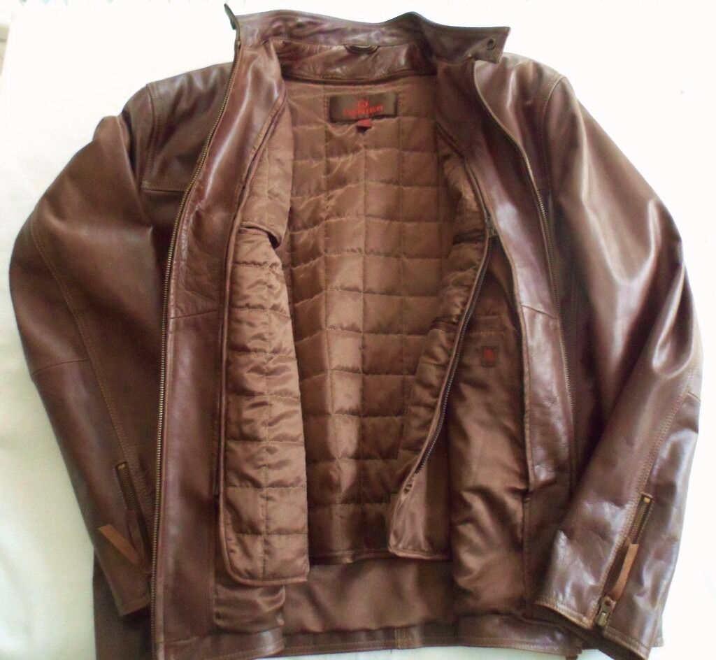 """Brown Leather Jacket """"Danier"""" with removable Quilted liningin Shepperton, SurreyGumtree - Danier soft leather Jacket will take you through the seasons with its cold busting removable quilted lining . The Jacket has hardly been worn and is in very good condition. Size 48 50 2XL Price £60 buyer collects"""