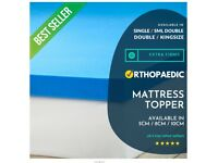Brand New Arrival Blue Foam Orthopaedic Extra Firm Mattress Toppers Available in Single / Double