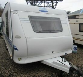 HOBBY UK SPECIAL 635 SMF 2005 *FIXED BED* 5 BERTH CARAVAN