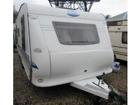 HOBBY UK SPECIAL 635 SMF 2005 *FIXED BED* 5 BERTH CARAVAN