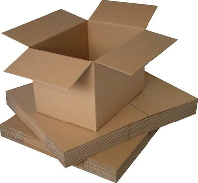10 - 18x12x10 Large Cardboard Boxes - Strong Single Wall Removal Moving Box