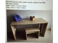 GAUTIER desk and chair