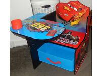 Delta Children Disney Cars Cartoon Toddler Kids Study Playroom Toyroom Chair Desk & Storage Bin