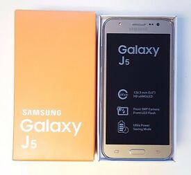 Brand New Samsung Galaxy J5 DUOS Dual Sim in a Box with all the Accessories SIM FREE UNLOCKED
