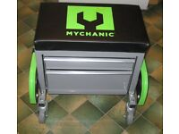MYCHANIC 2 DRAWER CABINET AND STOOL