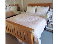 Oak bed with Highgate Hercules mattress (king size)
