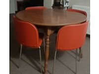 Table & 4 Chairs, will separate