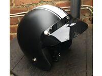VIPER OPEN FACE CRASH HELMET MATT BLACK & WHITE SIZE L 59-60 BRAND NEW WITHOUT TAGS