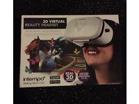 3D virtual reality head set