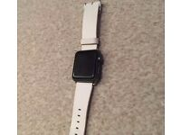 Apple iWatch - Space Grey - 38mm - Leather strap