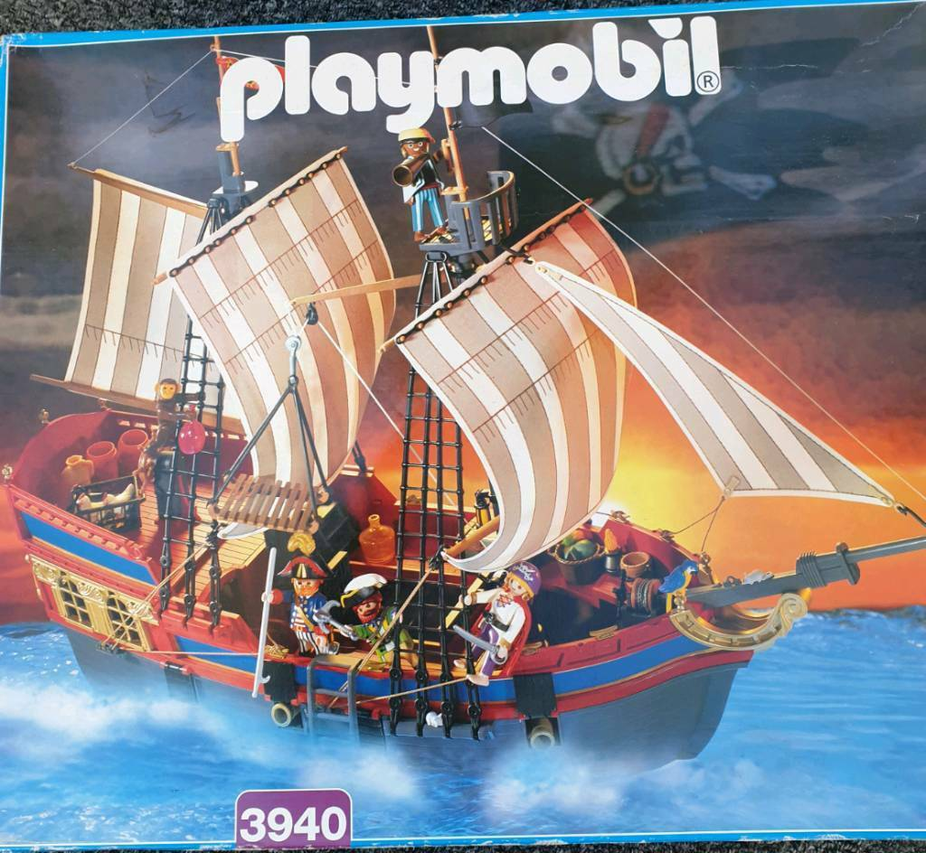playmobil pirate ship all figures boxed  in st helens