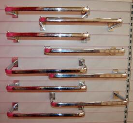 Slatwall Hook Rails x 9 - D Rails - Slatwall Side Hanging Rails - Shop Fittings, Retail Display