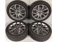 "Genuine 2017 Range Rover Evoque Dynamic 20"" Style 504 Wheels Shadow Silver with Continental Tyres x4"