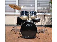 MAPEX 5 DRUM ROCK KIT IN BLACK WRAP