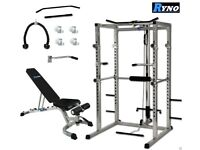 Ryno Power Squat Cage, Bench, Lat Pull Down, Tricpes
