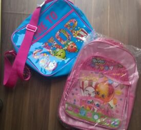 2 Shopkins School Bags (both brand new)
