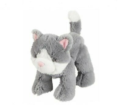 NWT Carters Gray Kitty Cat Plush Grey White Kitten Stuffed Baby Lovey Toy 67068