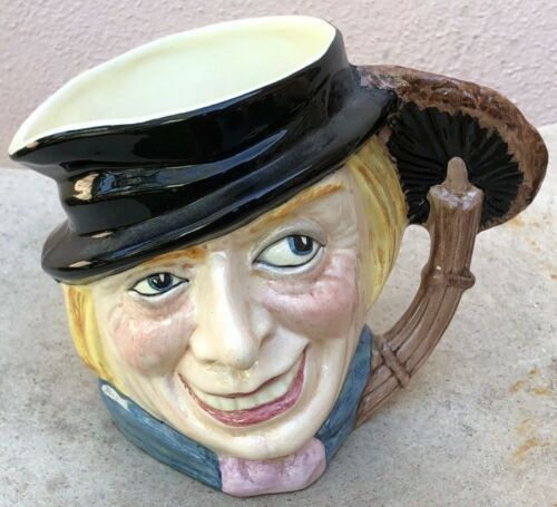 "VINTAGE CROWN WINSOR STAFFORDSHIRE CHARACTER MUG JUG ""SWEEP"" 5"" TALL"
