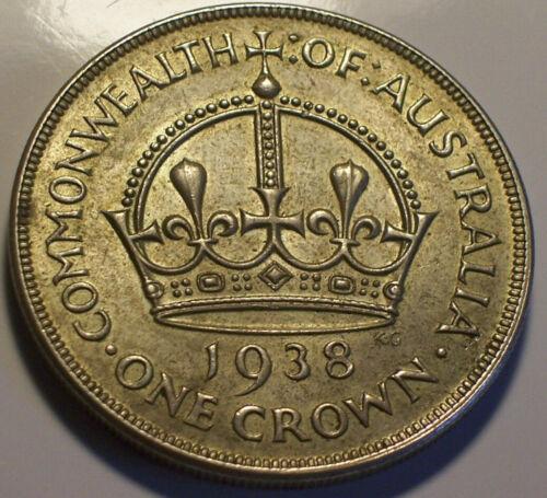 Australia, 1938 George VI Crown. 102,000 Mintage.