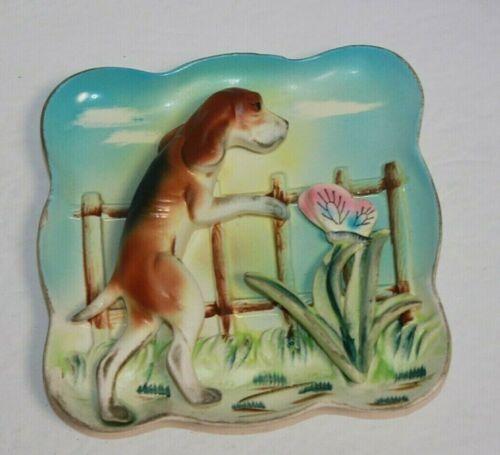 Vintage Ceramic Napco 3-d Beagle Dog Wall Plaque