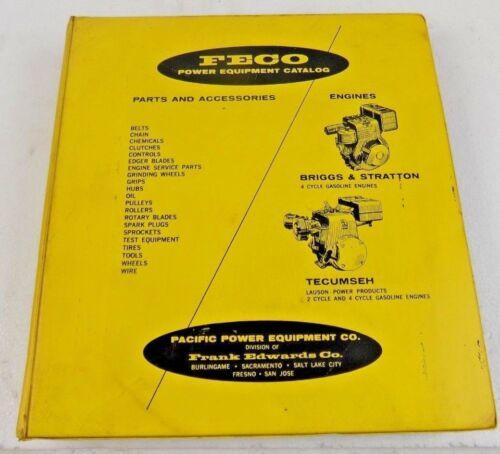 VINTAGE FECO POWER EQUIPMENT CATALOG / PARTS LIST - BRIGGS & STRATTON - TECUMSEH