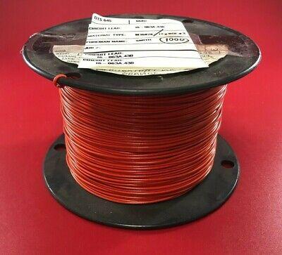 Awc Bn20-19 Mil Spec M16878-17-bge3 1000ft Spool 20awg Orange Circuit Lead