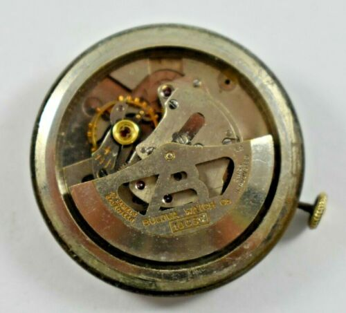 Vintage Bulova Selfwinding 17J 10CSC Wrist Watch Movement lot.g