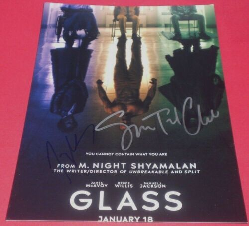 SPENCER TREAT CLARK & SHYAMALAN SIGNED GLASS 8X12 POSTER PHOTO AUTOGRAPH COA A