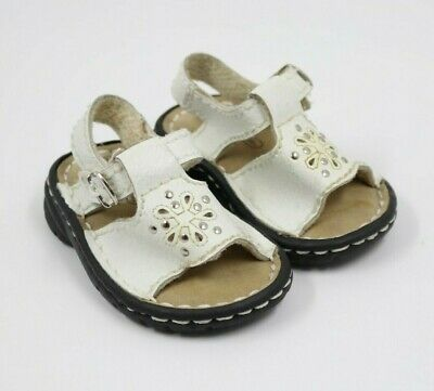 Kid Connection Baby Girl White Leather Sandals Shoes Size 3M