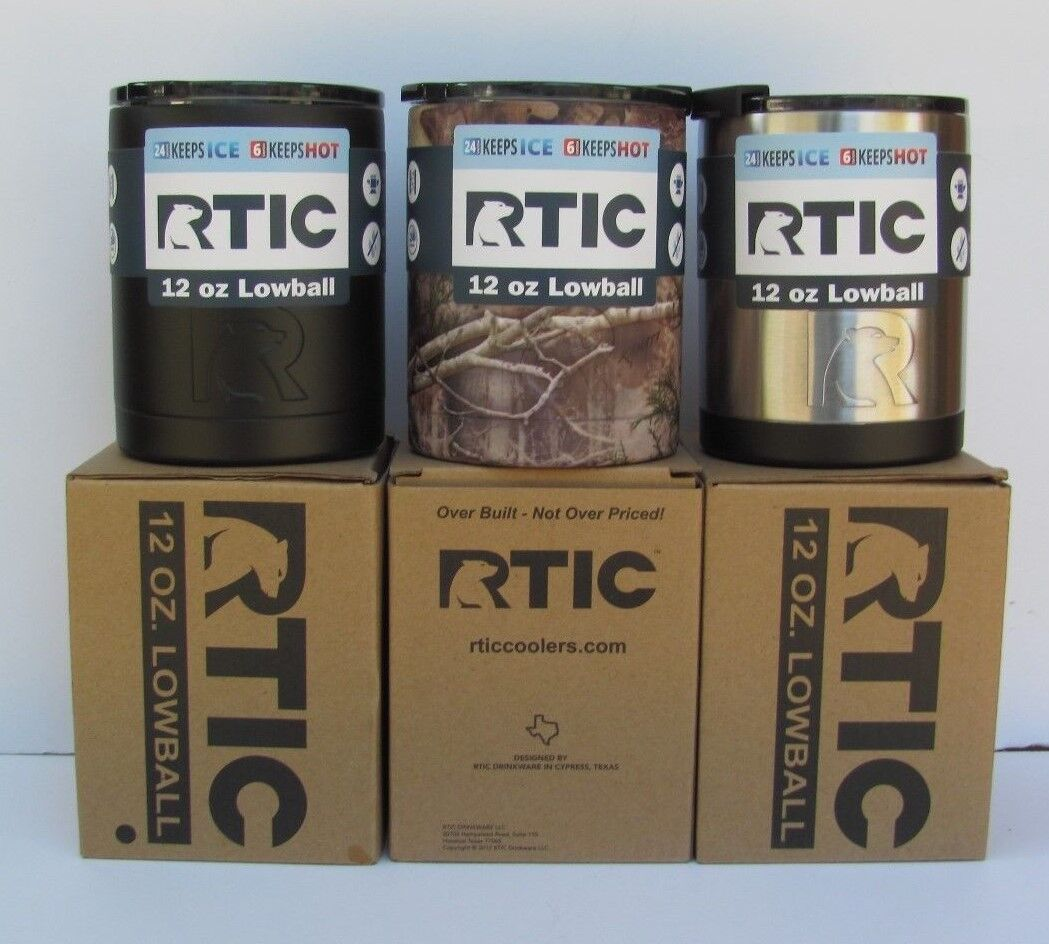 RTIC 12oz Lowball Stainless Steel Tumber  FREE SUPER FAST SHIPPING