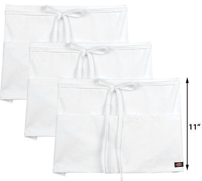 3-pack Dickies Chef Short Length Server 3 Pockets Apron Dc506