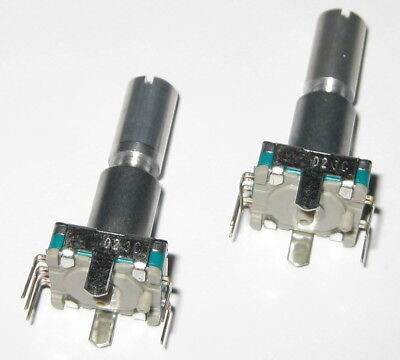 2 X Alps Rotary Encoder W Momentary Switch - 30 Detent 360 Degrees - Pc Board