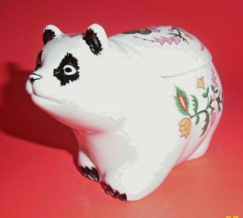 Vintage Panda Bear Candle Ceramic Porcelain Jar Figurine Asian Collectible 80