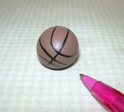Miniature Brown Basketball: DOLLHOUSE Miniatures 1:12 Toys Sports