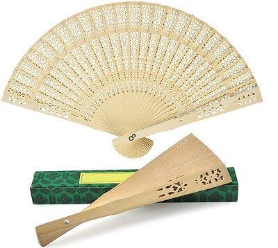 NEW IN BOX Chinese Japanese Bamboo folding Fan HAND FAN
