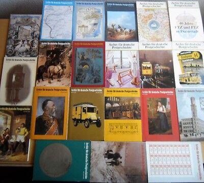 Archiv für deutsche POSTGESCHICHTE 1980 - 1989, 21 Hefte, 10 Jahrgänge