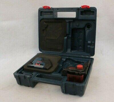 Bosch Gll3-80 Red Self-leveling 3-plane Laser Level Wm1 Bracket Case