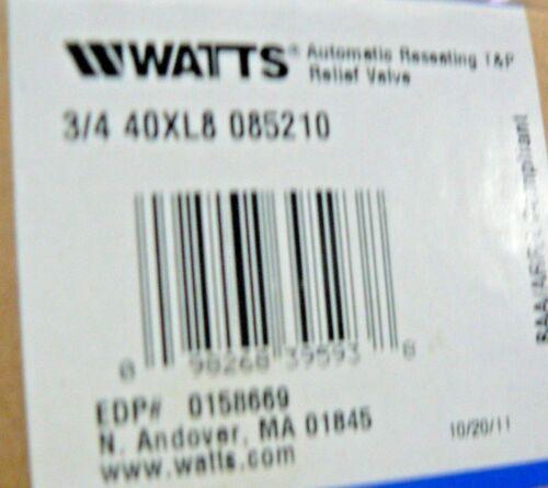 WATTS REGULATOR 3/4 40XL8 085210 85 PSI