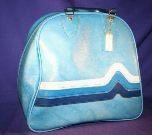 Bowling Bag Brunswick Blue Vinyl one ball