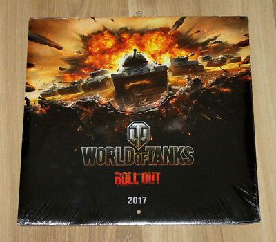 Used, World of Tanks Roll Out! Wargaming German Calendar 2017  for sale  Shipping to United States
