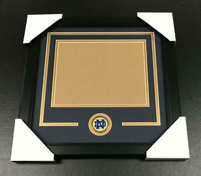 NOTRE DAME FIGHTING IRISH Medallion Frame Kit 8x10 Photo Double Mat HORIZONTAL