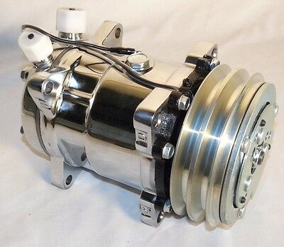 SANDEN 508  AC Compressor V-Belt, Chromed (Sliver Clutch) ONE YEAR WARRANTY