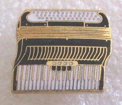 Vintage Accordion Enamel Lapel Pin - Musical Instrument