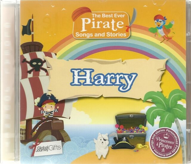 HARRY - THE BEST EVER PIRATE SONGS & STORIES PERSONALISED CHILDREN'S CD